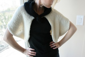Alpaca Boucle Bolero Handknit by Hilary