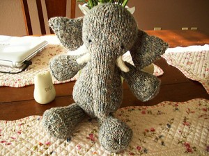 """Babar,"" Hand Knit by Whitney in Grass"