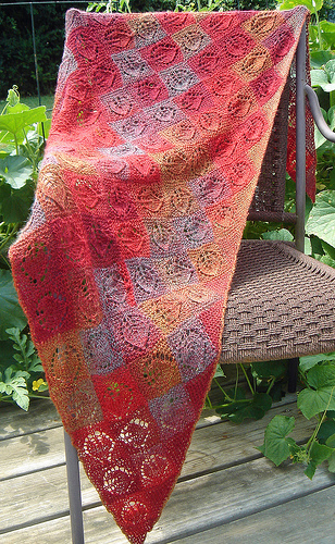"""Dianna"" Shawl using 2 balls of Zino color 2"
