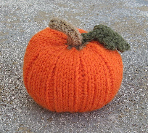 Pumpkin knit in Encore Worsted