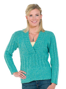 Taria Tweed Casual Ribbed Pullover