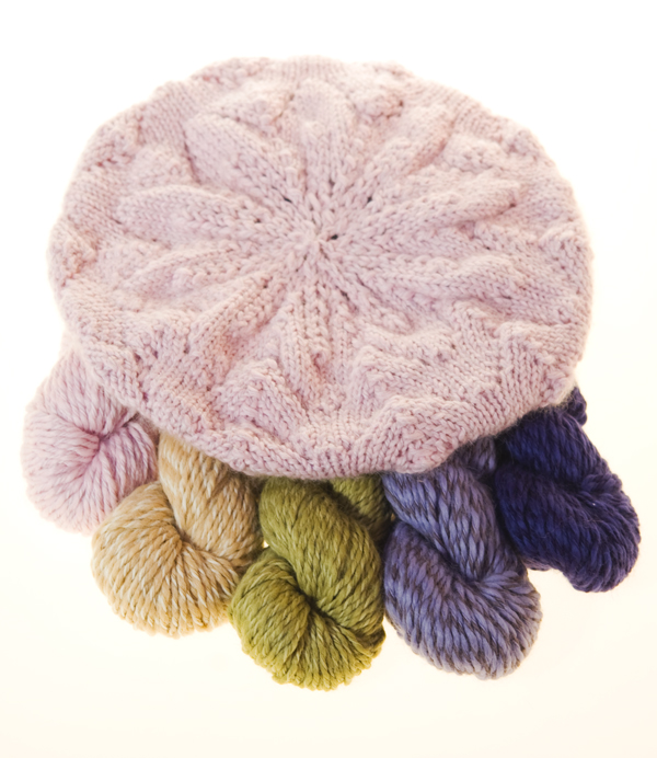 Knit Culture's Beret is made in soft pink color 700