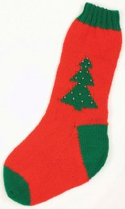 Encore Worsted Christmas Stocking Pattern F167