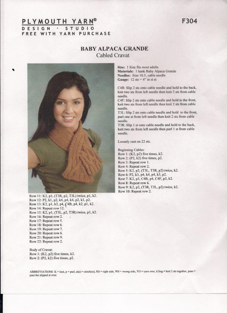 Quick & Fun Free Pattern for Baby Alpaca Grande