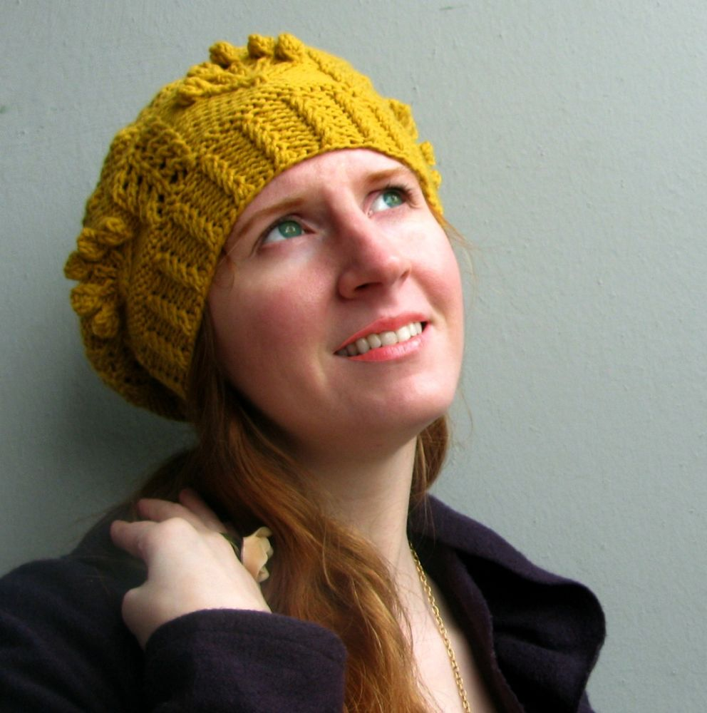 Spring Beret in Worsted Merino Superwash