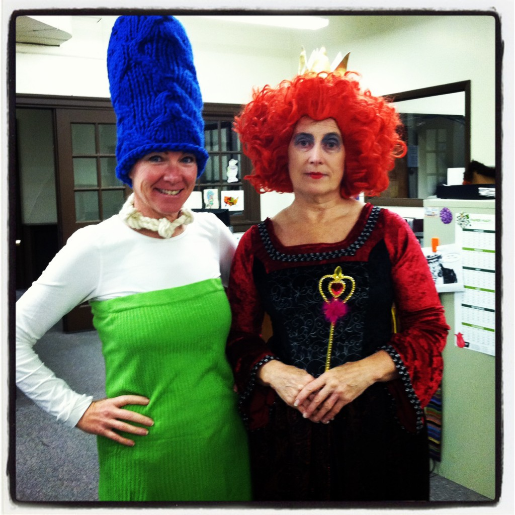 Margesimpson and red queen 2013 halloween