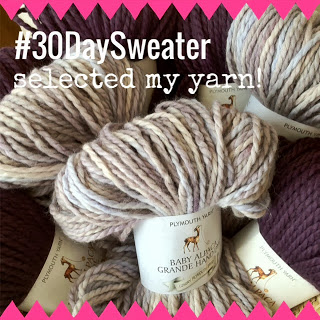 30 Day Sweater Challenge and Baby Alpaca Grande
