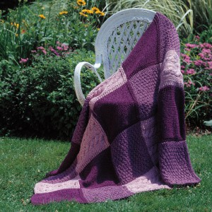 Patchwork Trio Afghan in Encore Worsted