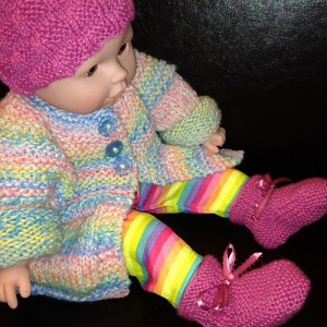 baby alpaca cherish hat and booties