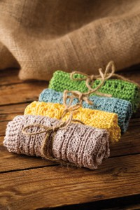 Cleo Simple Washcloths by Lisa Carnahan