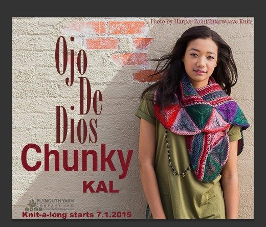 ojo chunky shawl KAL