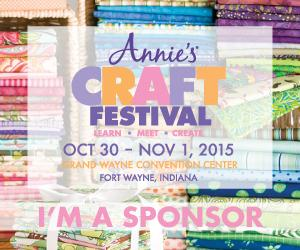 Fort Wayne Fans! Win a Class at the Annie's Craft Festival