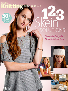 1, 2 & 3 Skeins…See Plymouth Yarns in Creative Knitting Special Issue