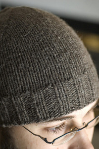 Free Ravelry download, the Regular Guy Beanie by Chuck Wright made with Homestead or Homestead Tweed is sure to keep your boys warm while they shovels the snow. Photo courtesy of Yarnman on Ravelry.