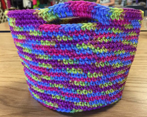 Free Ravelry download, this crochet One Skein Basket by Diane L. Augustin is perfect for putting your gift in. This one is designed with Fantasy Naturale and can be used for about 101 things! Photo courtesy of Diane L. Augustin.