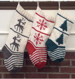 Free pattern download F775 Homestead Stocking Trio. Create memories with these family heirlooms this this. Young and old alike will cherish this special gift!