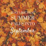Happy September! Fall Knitting has Begun!