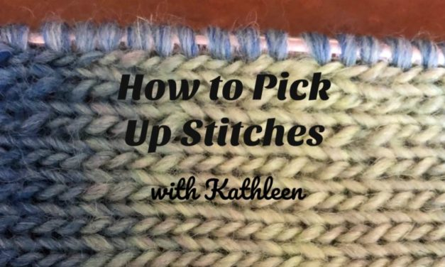 How to Pick Up Stitches Correctly and Evenly