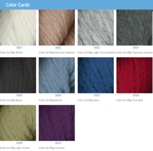 Cielo Yarn Colors