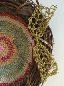 wreath by Kathryn Vercillo for Plymouth Yarn