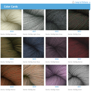Plymouth Yarn Davila Color Swatches