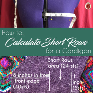 How to Calculate Short Rows for a Cardigan