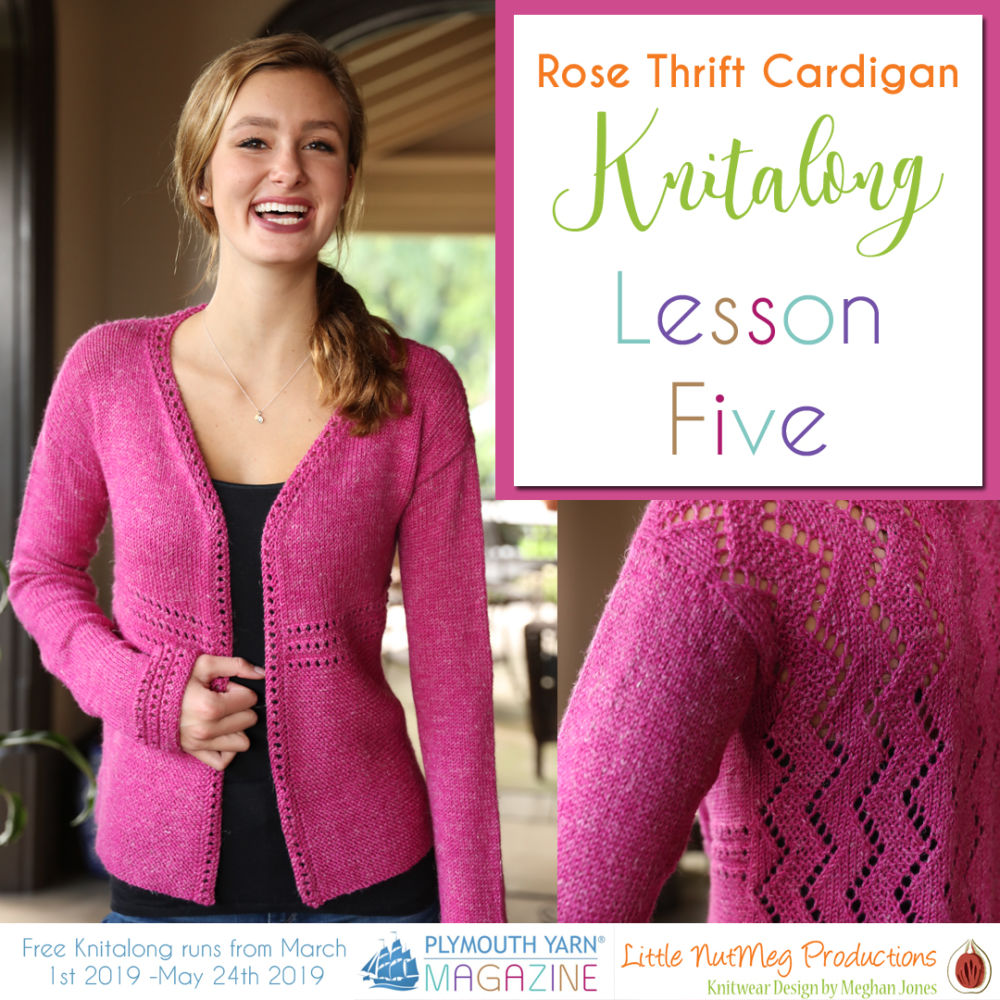 Rose Thrift Knit along Lesson 5